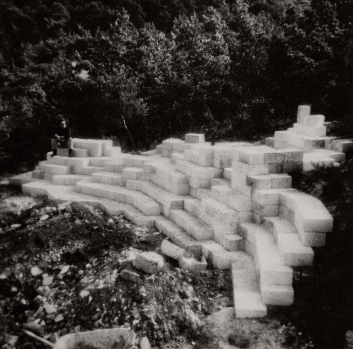 <p>Amphithéâtre en construction</p>