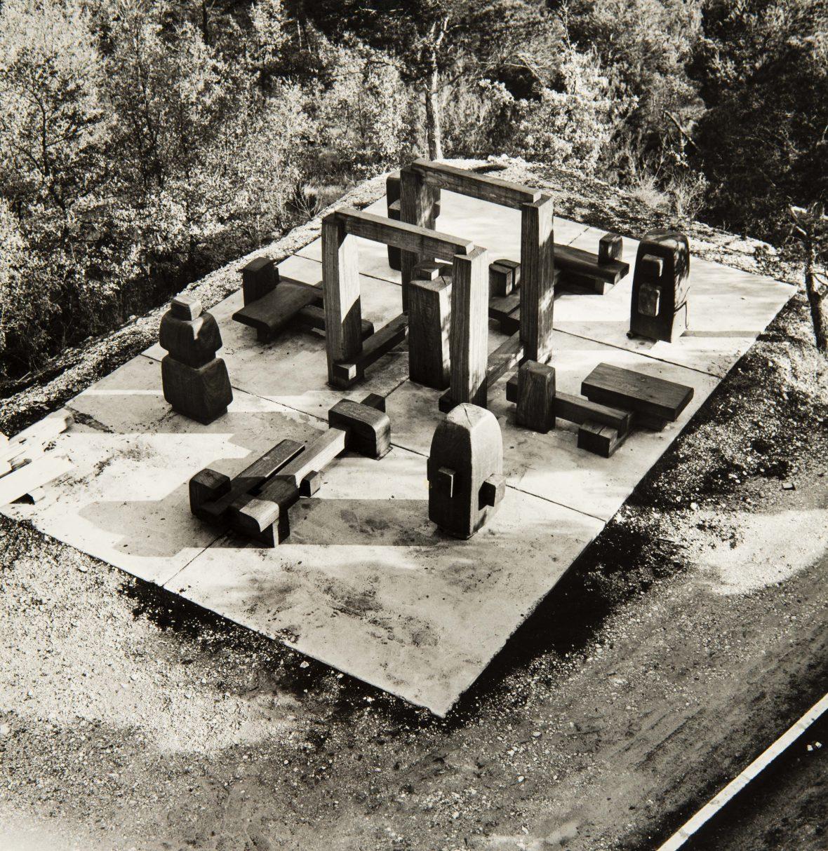 <p>Pré-montage d'une partie de l'ensemble labyrinthe d'Albany</p>