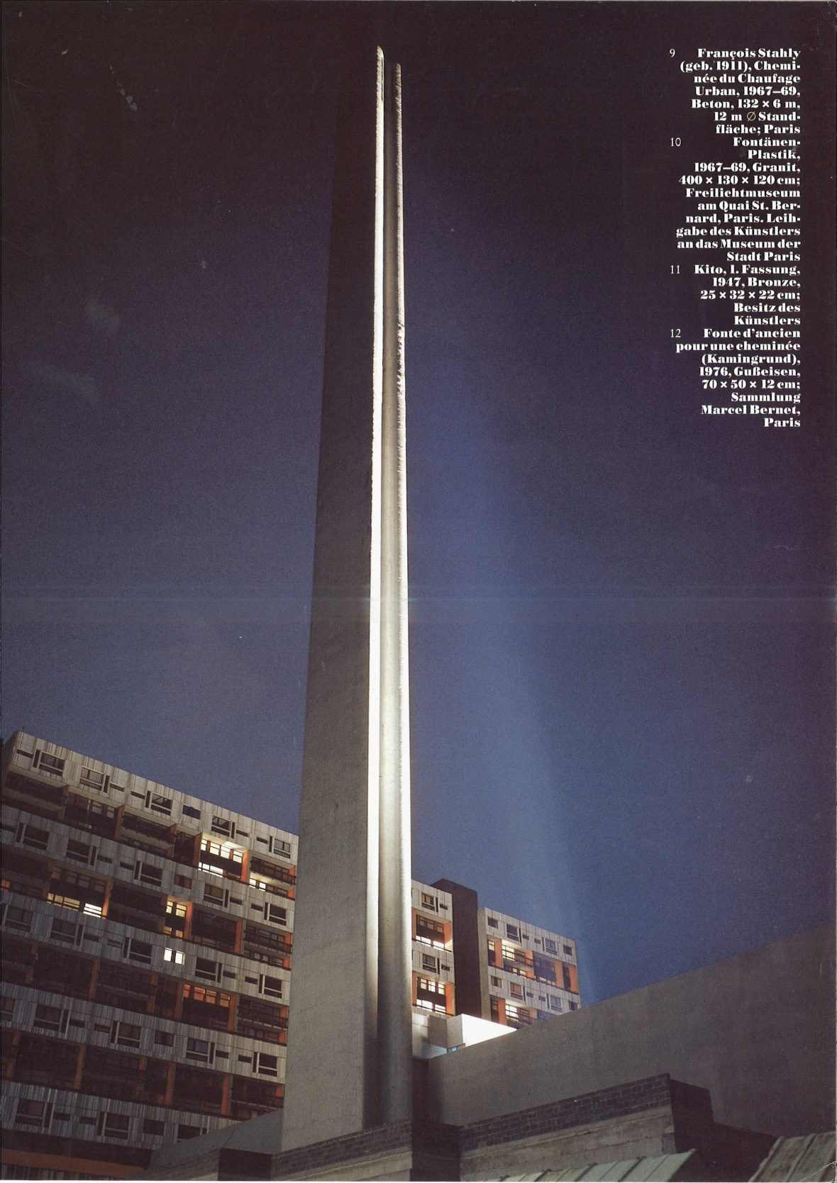 <p><em>La cheminée du Front de Seine</em>dans la revue<em>Die Kunst</em></p>